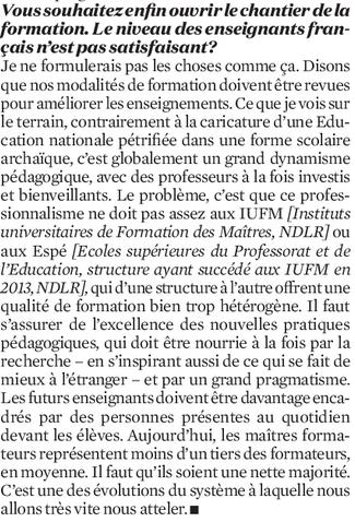 Rentrée scolaire : comment Jean-Michel Blanquer veut changer la vie des profs 310