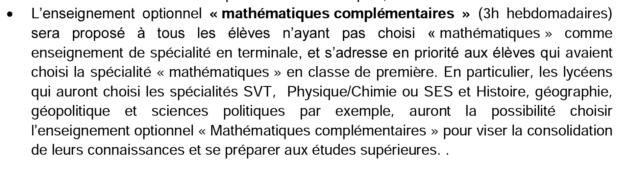 mathématiques complémentaires/ mathématiques expertes Screen25