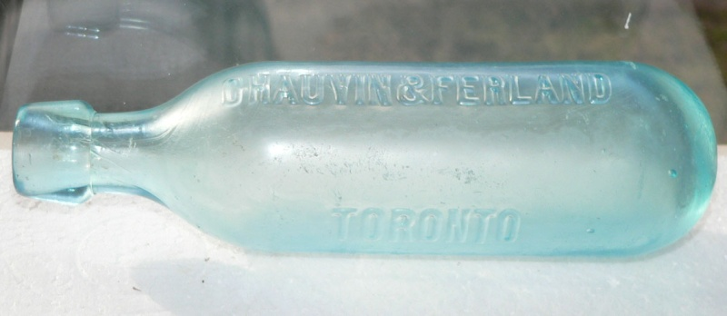 Bouteille blob top à fond rond 'Chauvin & Ferland - Toronto' Chauvi10