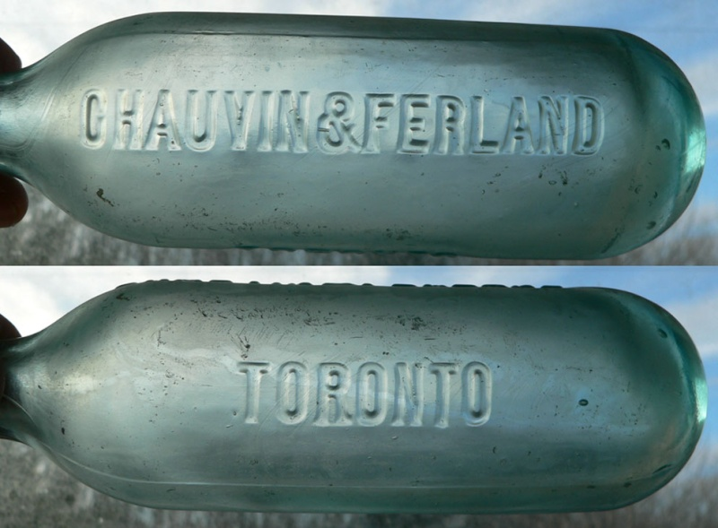Bouteille blob top à fond rond 'Chauvin & Ferland - Toronto' Chauvi11