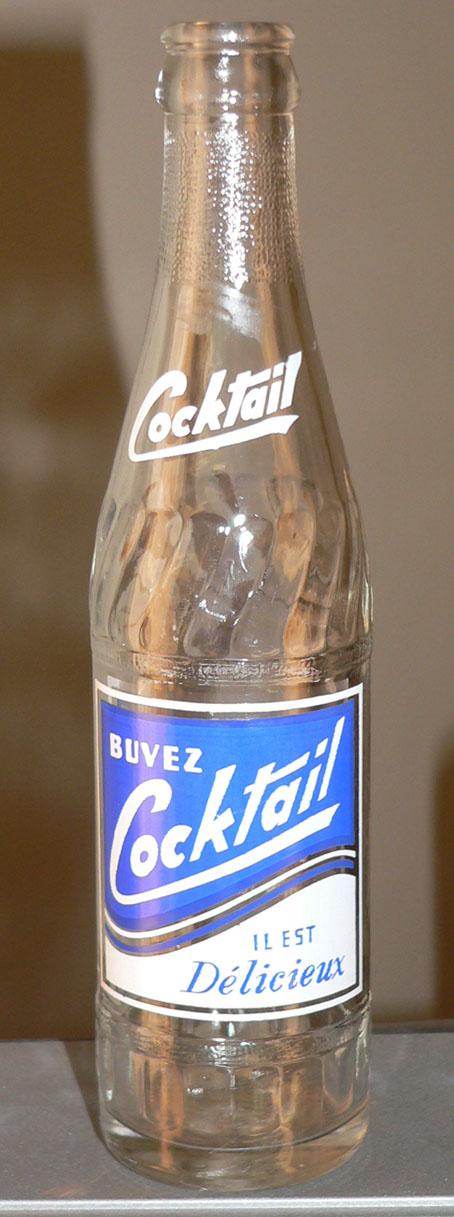 """Bouteille de liqueur ACL """"Cocktail"""" de 'Grondin & Gosselin' de Thetford Mines, PQ - 10oz Cockta10"""
