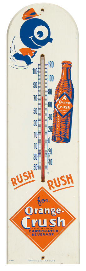 thermometre en bois orange crush  Crush10