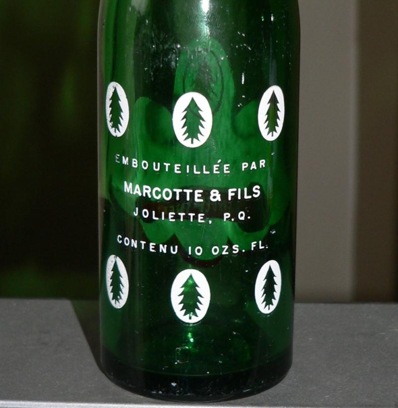 """Bouteille de liqueur ACL """"Bière d'épinette MARKO"""" verte de JOLIETTE, PQ - 10oz Markoa11"""