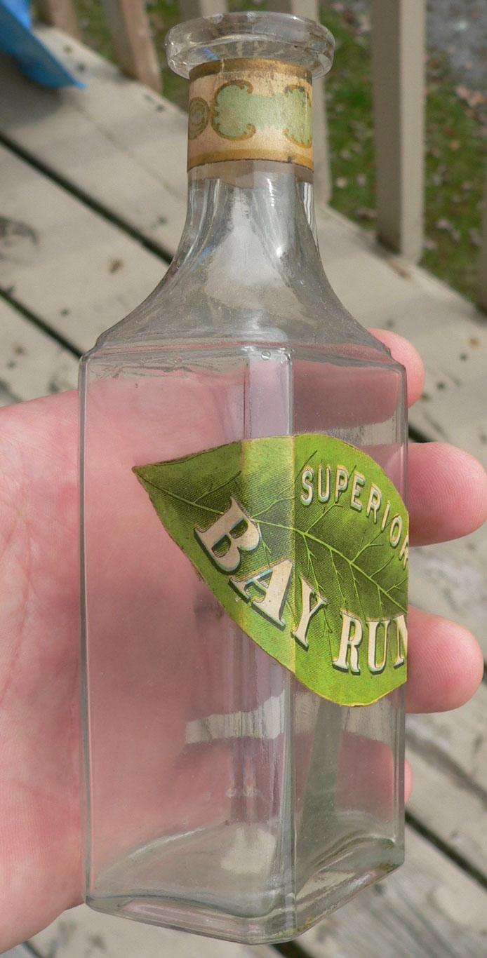 "Bouteille de médicament ""Bay Rum"" BIMAL Qbayru12"