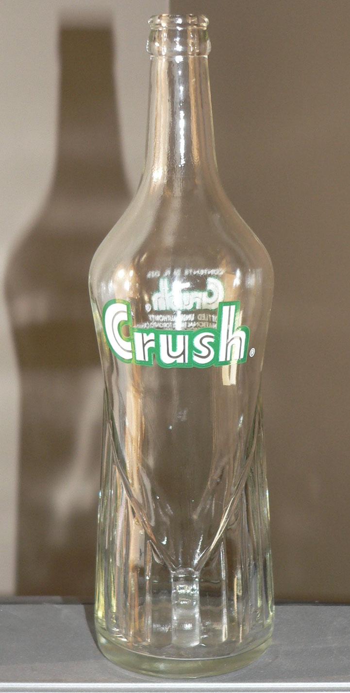 """Bouteille de liqueur ACL """"ORANGE CRUSH"""" de 1956 - 26oz Xcrush10"""