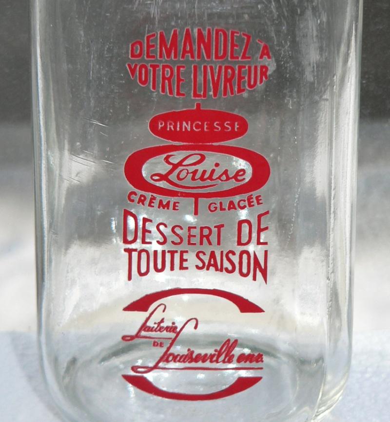 """À vendre - Pinte de lait carrée ACL rouge """"Laiterie Louiseville"""" Xlouis11"""