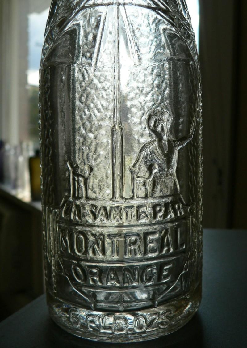 """Bouteille de liqueur Art-Deco """"La santé par Montréal Orange"""" embossée - 6oz Zorang11"""