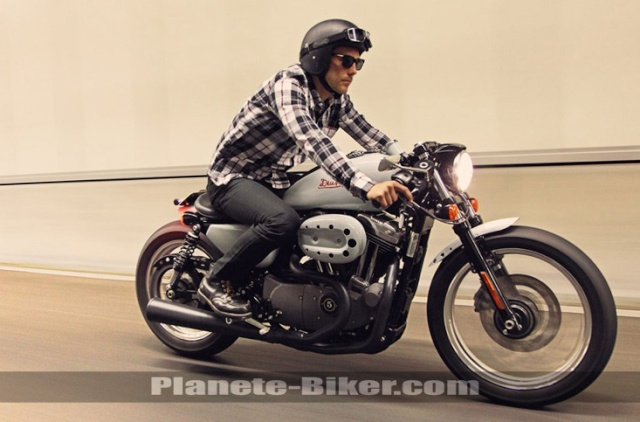 SPORTY CAFE RACER: CA LUI VA SI BIEN! LES PHOTOS... Harley11