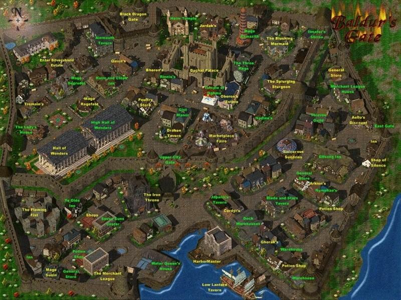 RPG BLACK ISLE, BIOWARE ... Baldur's Gate 2, Fallout, IWD, Map_ba10