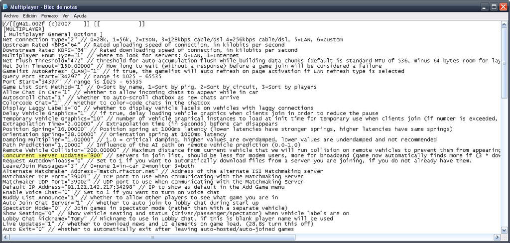 Como mostrar lista completa de servidores en el lobby de rFactor 1-610