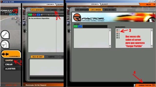 Como mostrar lista completa de servidores en el lobby de rFactor 10010