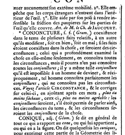 Question : l'ordre alphabétique était-il différent au XVIIIème siècle ? Ency10