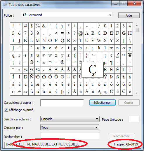 """Ordi: """"c"""" cédille+majuscule Sans_t14"""
