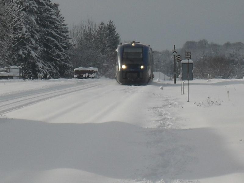 Gare du Valdahon un suppo sur la neige X7350010