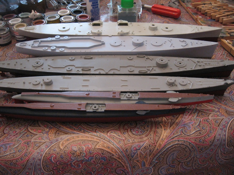HMS Hood & DKM Bismarck Airfix au 1/600 - Page 2 Img_2714