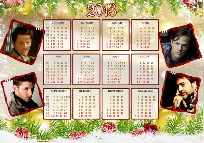 Mes calendriers 2013 Supern12