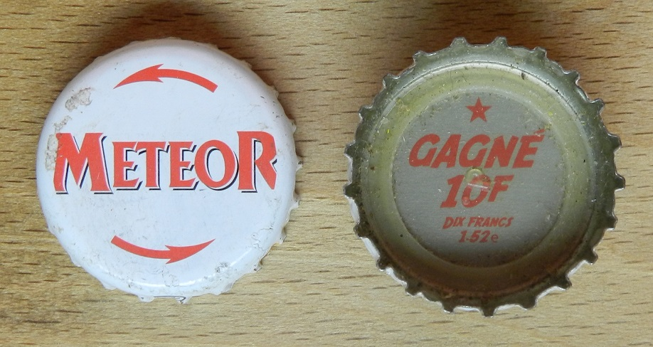 capsules de bière françaises avec un intérieur imprimé Meteor10