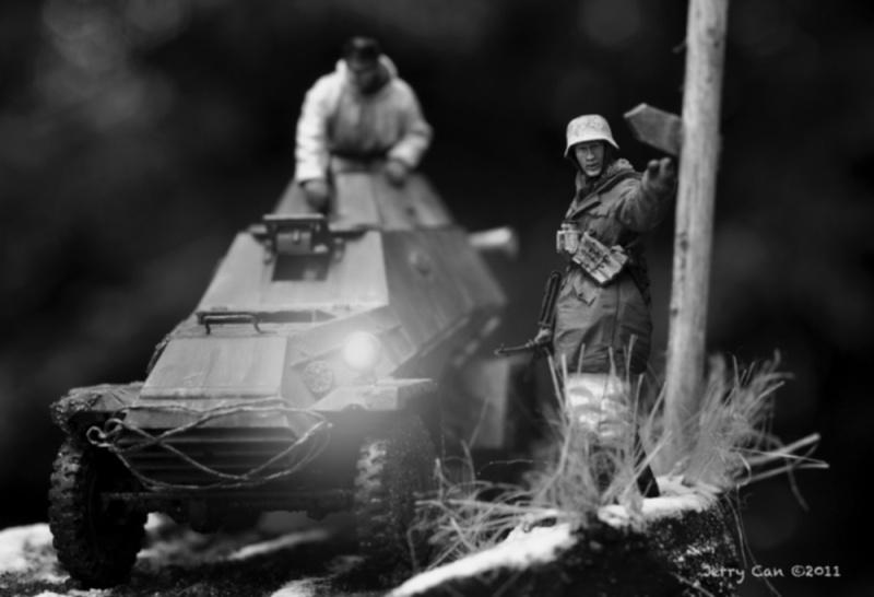 Kharkov, mars 1943 - BA-64 Panzerspähwagen - Diorama 1/35 - MAJ 1er juillet Ab-64-27