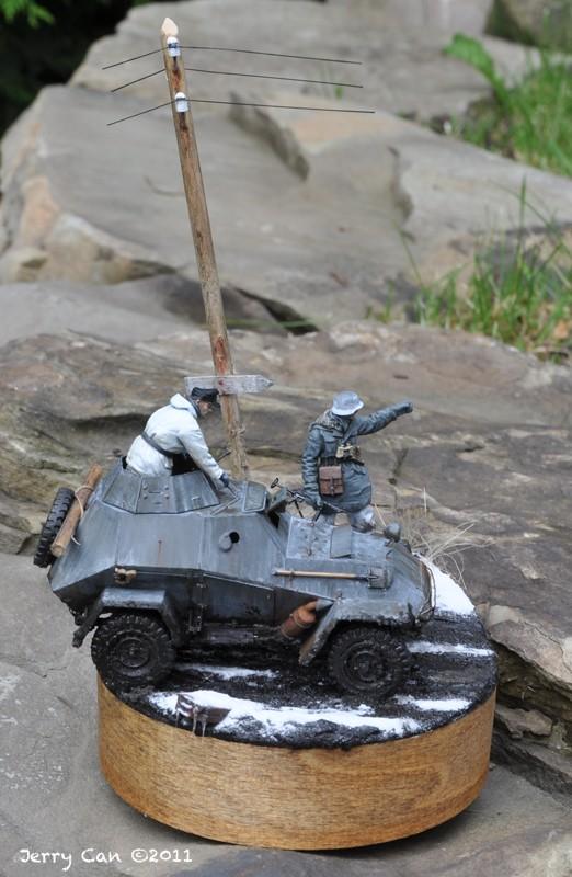 Kharkov, mars 1943 - BA-64 Panzerspähwagen - Diorama 1/35 - MAJ 1er juillet Ab-64-30