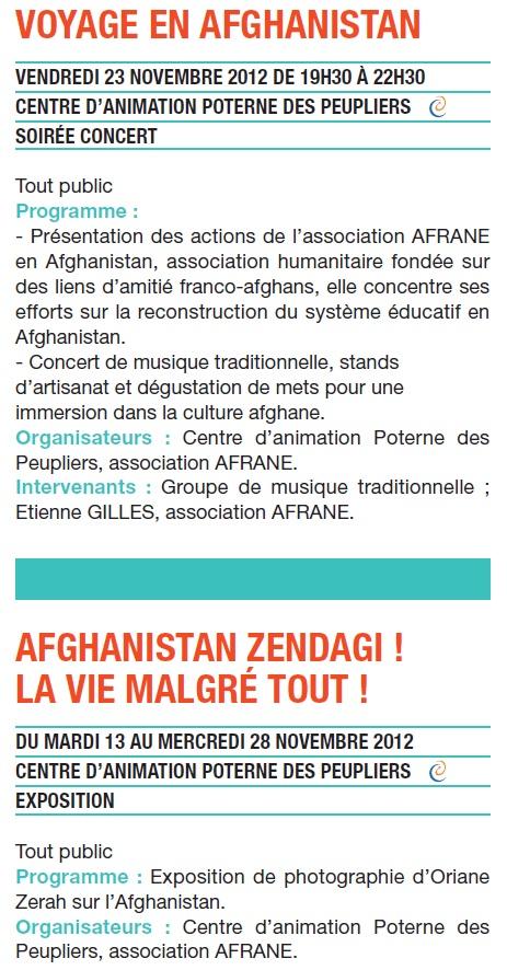Soirée : Voyage en Afghanistan, concert musique tradi... Soirae10
