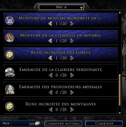 Les objets légendaires & reliques 210