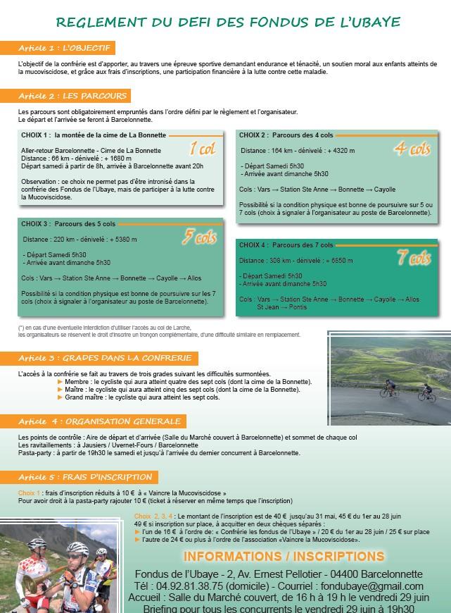 DEFI des FONDUS de l'UBAYE ..... DFU .... Samedi 30 Juin 201 Dfu210