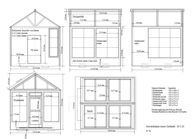 Modell-Gewächshaus von DIY HOUSE Gewzic10