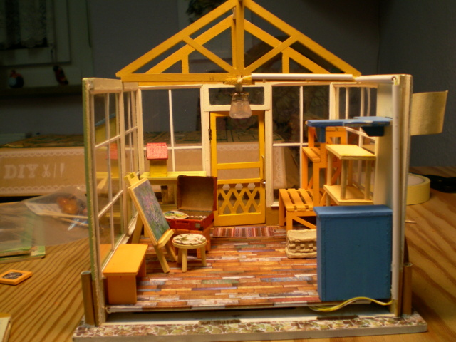 Modell-Gewächshaus von DIY HOUSE Sany1246