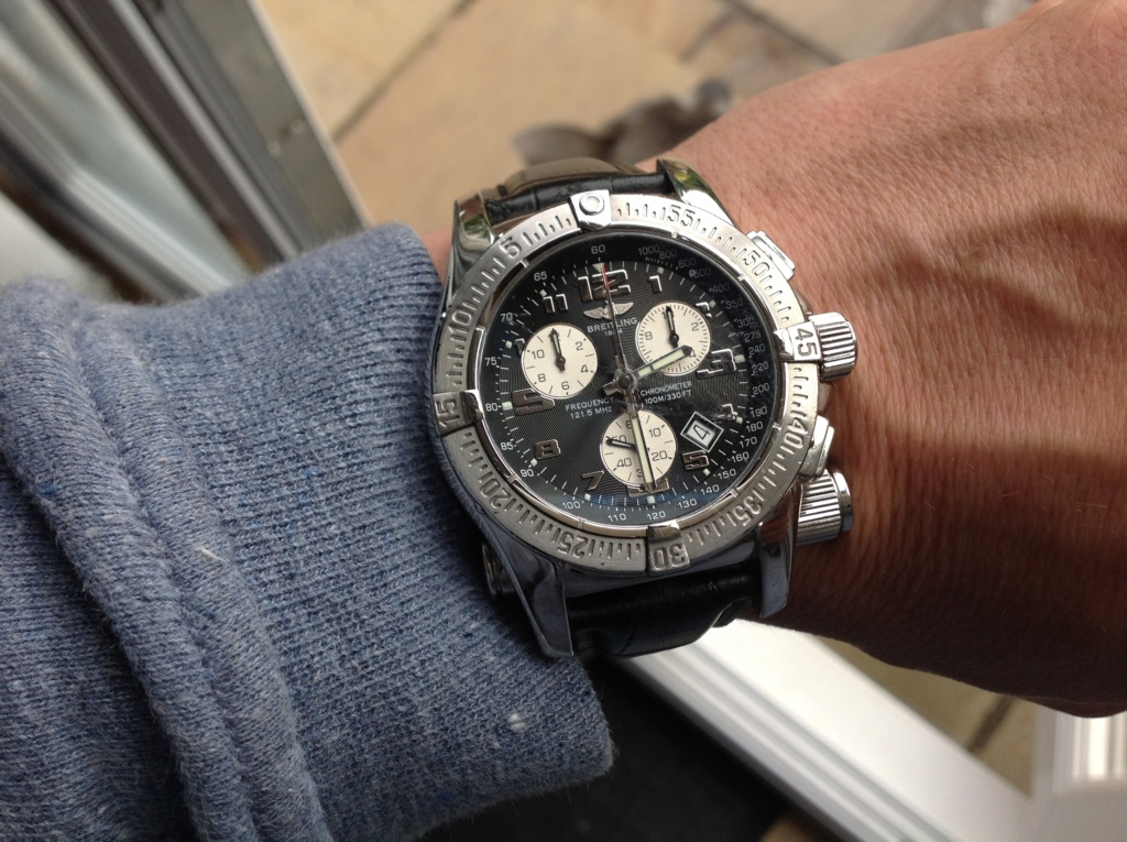 One watch to two watches breitling emergency mission A73322  Image61