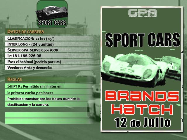 Torneo Spor Cars 1967 - 2018 - Brands Hatch Brands10