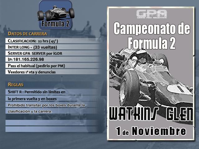 Torneo F2 1967 - 2018 - Watkins Glen Brands13
