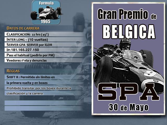 Torneo F1 1965 - 2019 - Spa F1_65_17