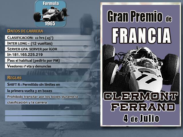Torneo F1 1965 - 2019 - Clermont Ferrand F1_65_19