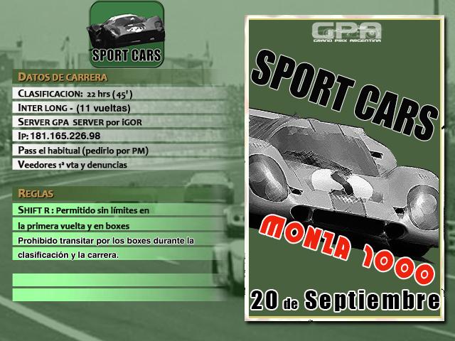 Torneo Spor Cars 1967 - 2018 - Monza 1000K Monza_10