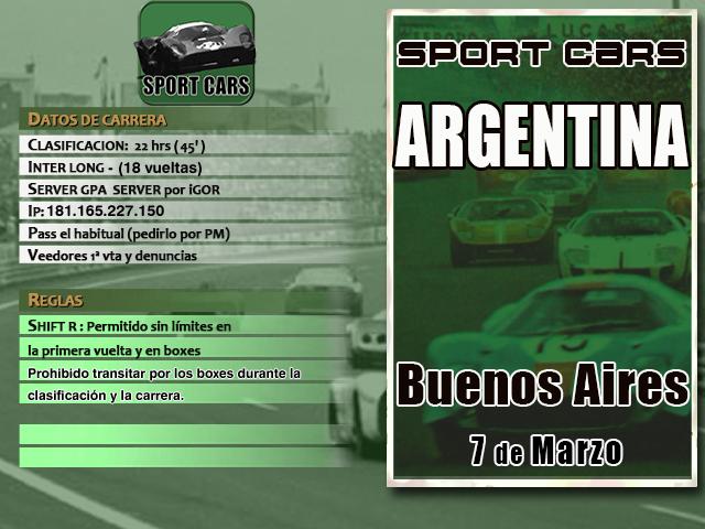 Torneo Spor Cars Extra 1967  - 2019 - Buenos Aires 67 Sc_1_b10