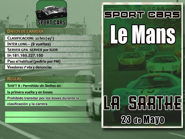 Torneo Sport Cars Extra 1967 - Le Mans 67 Sc_2_l10