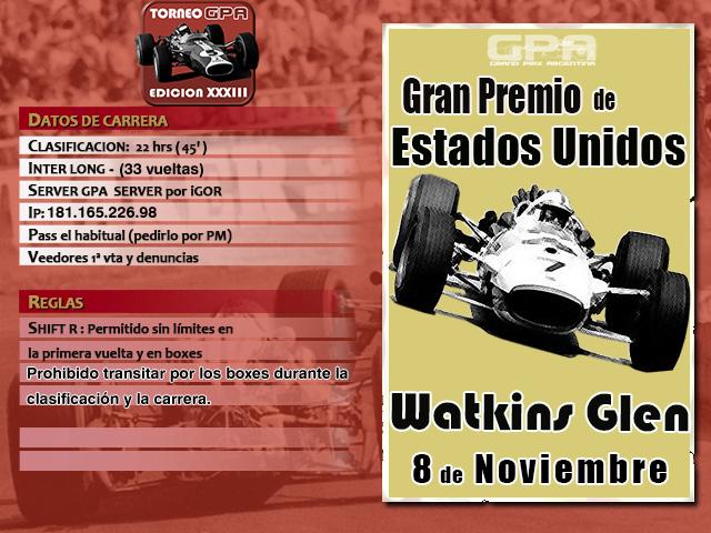 Torneo Edicion XXXIII - Watkins Glen Torneo32
