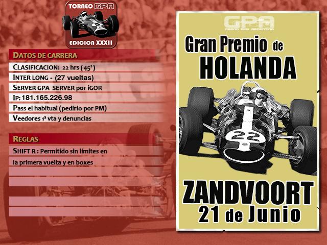 Torneo Edicion XXXII - Zandvoort Zandvo10