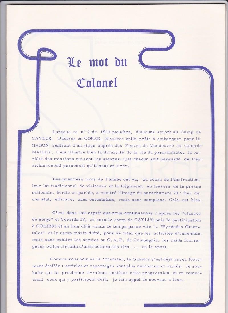 1er RCP 1973 le mot du colonel  Cdb_10