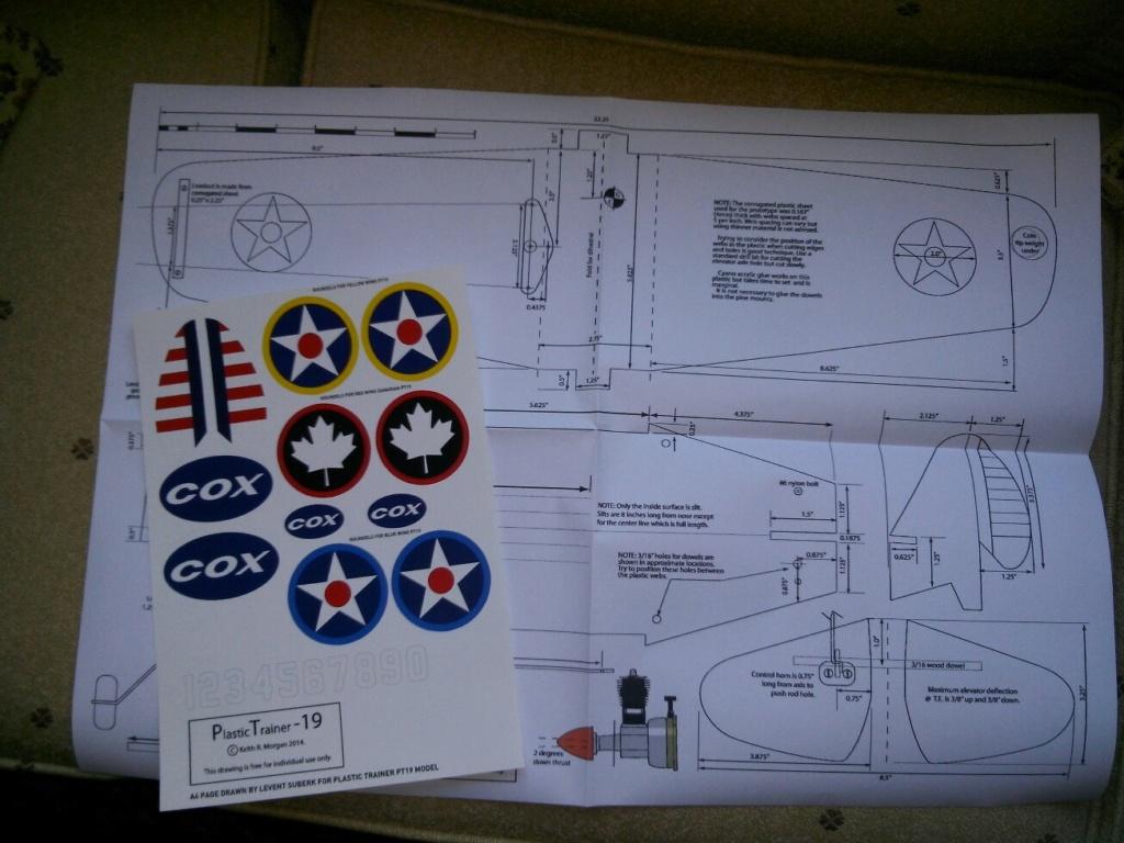 "RARE COX THIMBLE DROME PROTOTYPE ""PT-19 COROPLAST BUILD"" GAS MODEL AIRPLANE Pt19-f10"