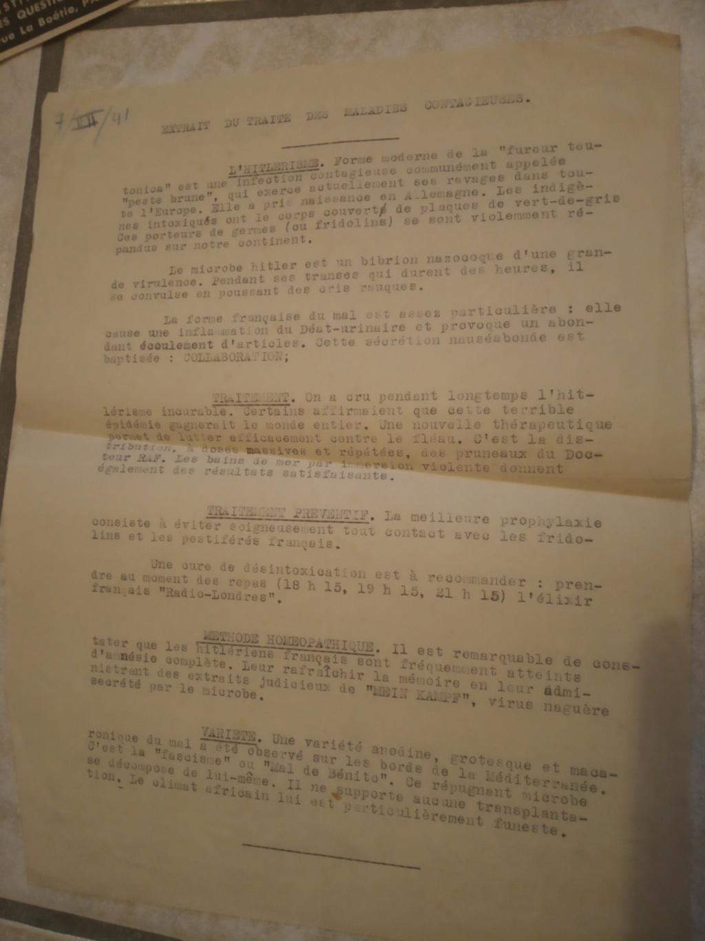 Un document de circonstance : l'épidémie d'hitlérisme (tract de la résistance)  Img_2256