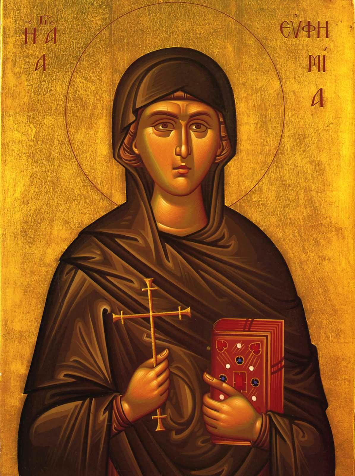 Παρακλητικός Κανών εις την Αγίαν Μεγαλομάρτυρα Ευφημία Agia-e10