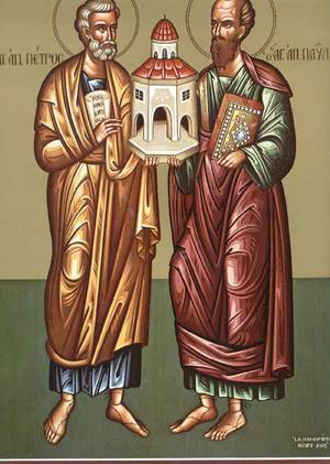 Χαιρετισμοί εις τους  Αγίους και Πρωτοκορυφαίους Αποστόλους Πέτρου και Παύλου Agioip10