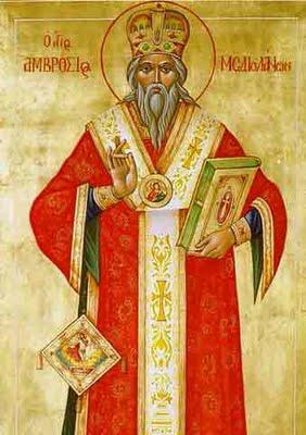 Παρακλητικός Κανών εις τον εν Αγίοις Πατέρα ημών Αμβρόσιον Επίσκοπον Μεδιολάνων τον Θαυματουργόν Agios_15