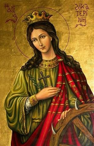 Χαιρετισμοί εις την Αγίαν Μεγαλομάρτυρα και Πάνσοφον Νύμφην του Χριστού Αικατερίνην  Aikate10