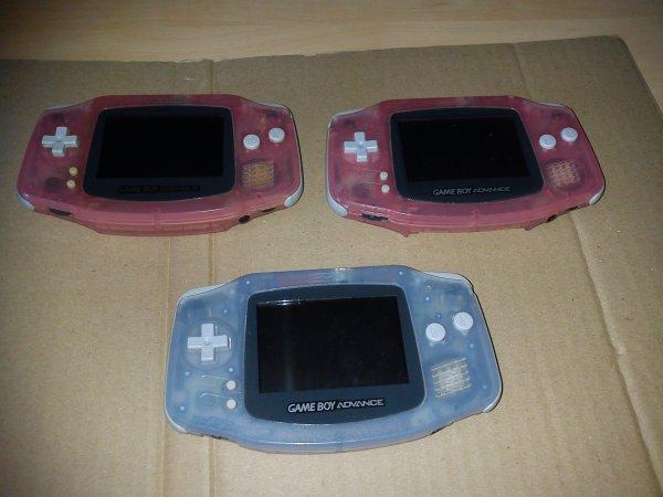 Console Game Boy Adance backlight mod ASG-101 et custom 33153411