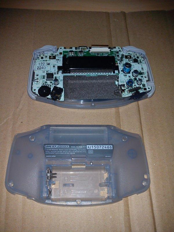Console Game Boy Adance backlight mod ASG-101 et custom 33153413