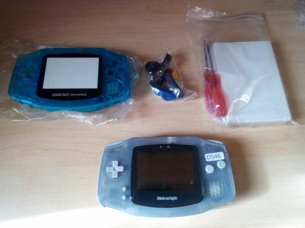 Console Game Boy Adance backlight mod ASG-101 et custom 33179814
