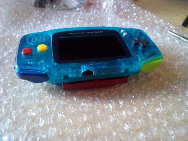 Console Game Boy Adance backlight mod ASG-101 et custom 33179816