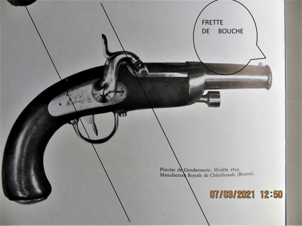 LES ARMES portatives DE LA GENDARMERIE   1833/1836  avec frette de bouche  Img_6017
